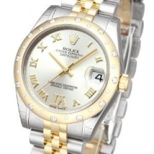 Rolex Datejust Lady 178343-0012 Kello Hopea / Teräs