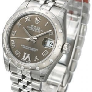 Rolex Datejust Lady 178344-0001 Kello Ruskea / Teräs