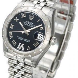 Rolex Datejust Lady 178344-0002 Kello Violetti / Teräs