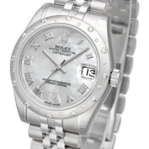 Rolex Datejust Lady 178344-0004 Kello Valkoinen / Teräs