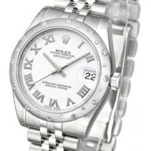 Rolex Datejust Lady 178344-0005 Kello Valkoinen / Teräs