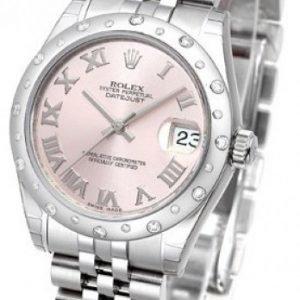 Rolex Datejust Lady 178344-0019 Kello Pinkki / Teräs