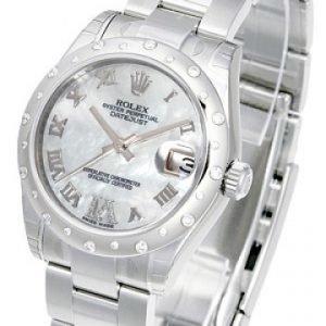Rolex Datejust Lady 178344-0024 Kello Valkoinen / Teräs
