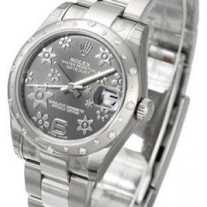 Rolex Datejust Lady 178344-0025 Kello Harmaa / Teräs