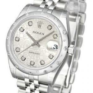 Rolex Datejust Lady 178344-0059 Kello Hopea / Teräs