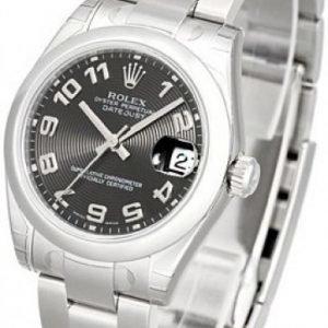 Rolex Datejust Lady 31 Mm 178240-0011 Kello Musta / Teräs