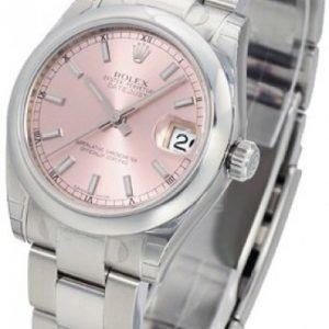 Rolex Datejust Lady 31 Mm 178240-0028 Kello Pinkki / Teräs