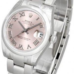 Rolex Datejust Lady 31 Mm 178240-0032 Kello Pinkki / Teräs