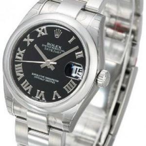 Rolex Datejust Lady 31 Mm 178240-0034 Kello Musta / Teräs