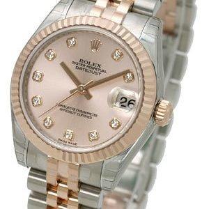 Rolex Datejust Lady 31 Mm 178271-0034 Kello Pinkki / 18k