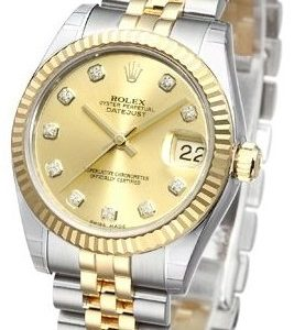 Rolex Datejust Lady 31 Mm 178273-0002 Kello Kullattu / 18k