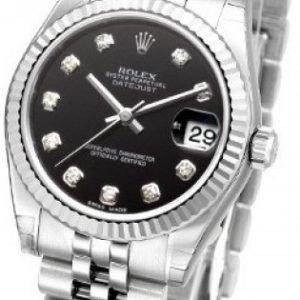 Rolex Datejust Lady 31 Mm 178274-0014 Kello Musta / Teräs