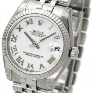 Rolex Datejust Lady 31 Mm 178274-0073 Kello Valkoinen / Teräs