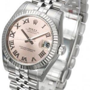 Rolex Datejust Lady 31 Mm 178274-0077 Kello Pinkki / Teräs