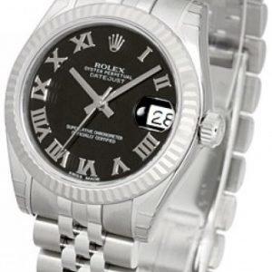 Rolex Datejust Lady 31 Mm 178274-0079 Kello Musta / Teräs