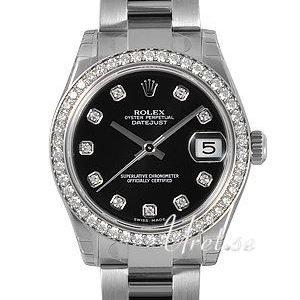 Rolex Datejust Lady 31 Mm 178384-0042 Kello Musta / Teräs