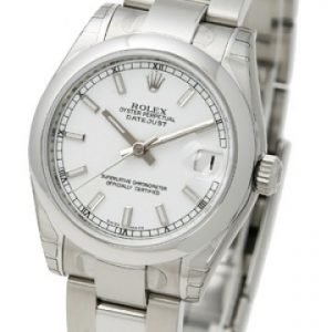 Rolex Datejust Midsize 178240-0024 Kello Valkoinen / Teräs
