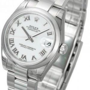 Rolex Datejust Midsize 178240-0031 Kello Valkoinen / Teräs