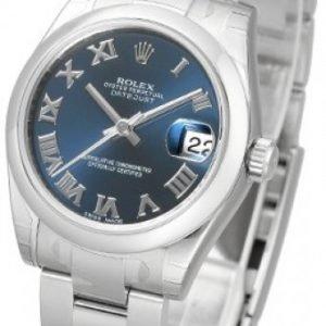 Rolex Datejust Midsize 178240-0036 Kello Sininen / Teräs