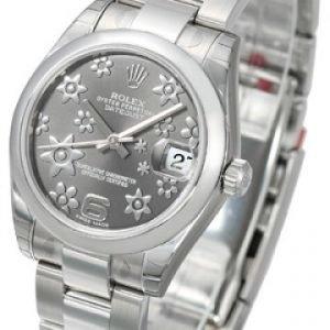 Rolex Datejust Midsize 178240-0040 Kello Harmaa / Teräs