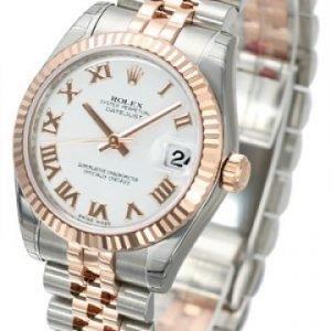 Rolex Datejust Midsize 178271-0067 Kello Valkoinen / 18k