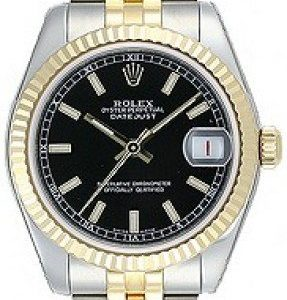 Rolex Datejust Midsize 178273-0019 Kello Musta / 18k