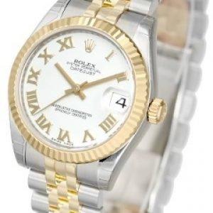 Rolex Datejust Midsize 178273-0073 Kello Valkoinen / 18k