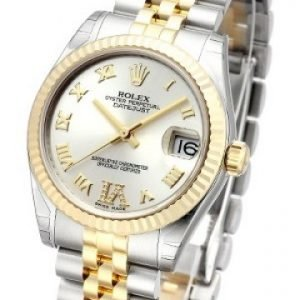 Rolex Datejust Midsize 178273-0091 Kello Hopea / 18k