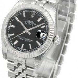 Rolex Datejust Midsize 178274-0004 Kello Musta / Teräs