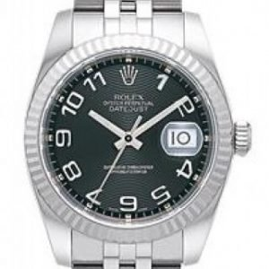Rolex Datejust Midsize 178274-0005 Kello Musta / Teräs