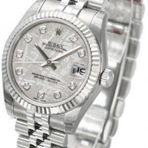 Rolex Datejust Midsize 178274-0016 Kello Harmaa / Teräs