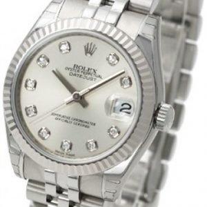 Rolex Datejust Midsize 178274-0018 Kello Hopea / Teräs