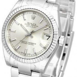 Rolex Datejust Midsize 178274-0025 Kello Hopea / Teräs