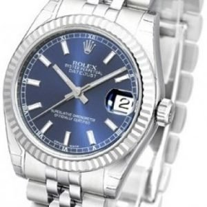 Rolex Datejust Midsize 178274-0037 Kello Sininen / Teräs