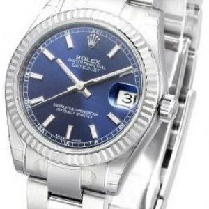 Rolex Datejust Midsize 178274-0038 Kello Sininen / Teräs