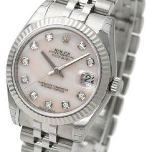 Rolex Datejust Midsize 178274-0042 Kello Valkoinen / Teräs