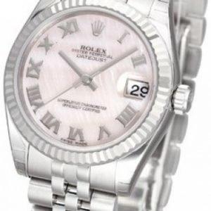 Rolex Datejust Midsize 178274-0044 Kello Pinkki / Teräs