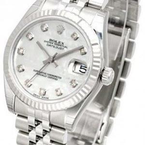 Rolex Datejust Midsize 178274-0056 Kello Valkoinen / Teräs