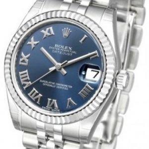 Rolex Datejust Midsize 178274-0081 Kello Sininen / Teräs