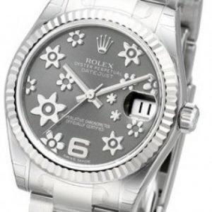 Rolex Datejust Midsize 178274-0091 Kello Harmaa / Teräs