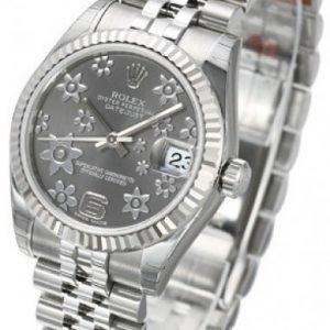 Rolex Datejust Midsize 178274-0092 Kello Harmaa / Teräs