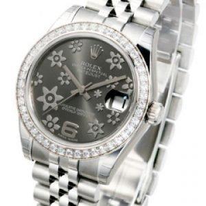 Rolex Datejust Midsize 178384-0010 Kello Harmaa / Teräs