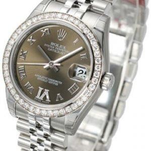 Rolex Datejust Midsize 178384-0011 Kello Vihreä / Teräs