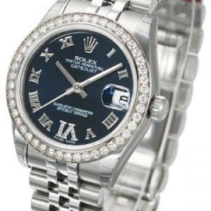 Rolex Datejust Midsize 178384-0013 Kello Violetti / Teräs