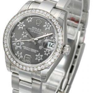 Rolex Datejust Midsize 178384-0025 Kello Harmaa / Teräs