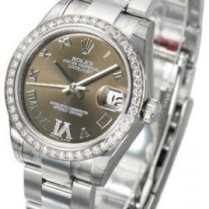 Rolex Datejust Midsize 178384-0026 Kello Vihreä / Teräs