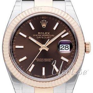 Rolex Datejust41 126331-0001 Kello Ruskea / 18k Punakultaa