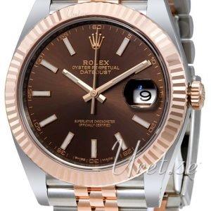 Rolex Datejust41 126331-0002 Kello Ruskea / 18k Punakultaa