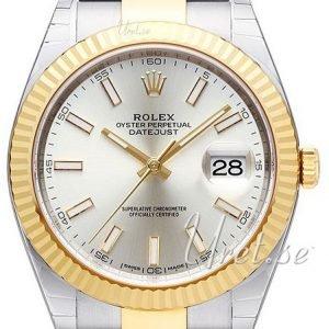 Rolex Datejust41 126333-0001 Kello Hopea / 18k Keltakultaa