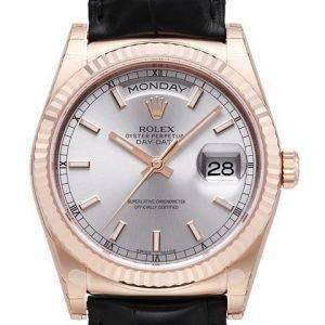 Rolex Day-Date 118135-0005 Kello Hopea / Nahka